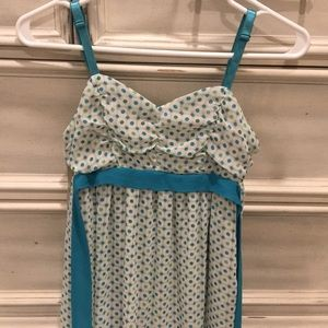 Guess jeans s/p summer strap dress 100%polyester